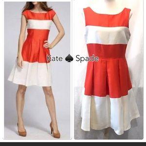 Kate Spade Gayle Silk Orange Cream Dress 10 $325
